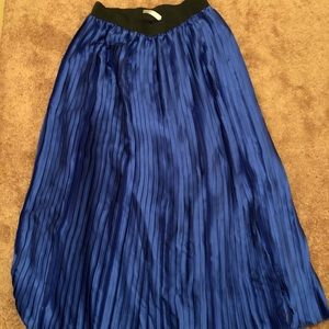 Pleated Blue Maxi Skirt NWT